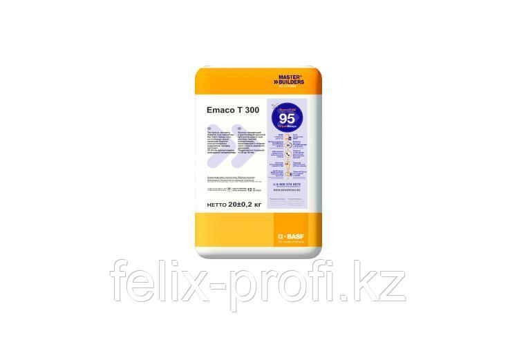 MasterEmaco T300 представляет собой быстро твердеющий и достигающий высокой прочности раствор текучей консисте