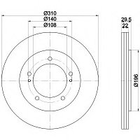 Тормозные диски Suzuki Grand Vitara  (97 - 05, передние, Veka)