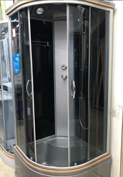 Душевая кабина Erlit ER3508P, 80х80 см, с серым поддоном, тонированным стеклом.
