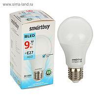 Лампа cветодиодная Smartbuy, A60, E27, 9 Вт, 4000 К, дневной белый свет