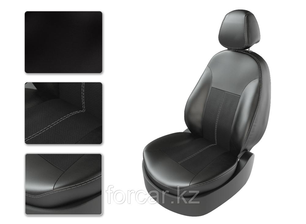 Чехлы модельные TOYOTA LC PRADO 150 черный/черный/серый