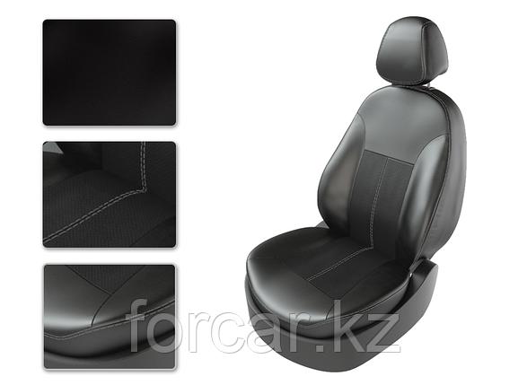 Чехлы модельные TOYOTA LC PRADO 150 черный/черный/серый , фото 2