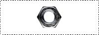 Гайка шестигранная, цинк DIN 934 M3