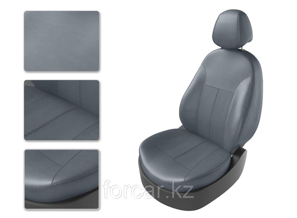 Чехлы модельные TOYOTA COROLLA c 2013 серый/серый/серый