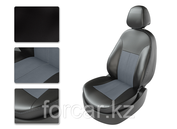Чехлы модельные TOYOTA CAMRY V70 с 2018г черный/замш серый/серый, фото 2