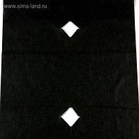 Материал мульчирующий, с перфорацией, 10 × 0,8 м, плотность 60, с УФ-стабилизатором, чёрный, «Агротекс»