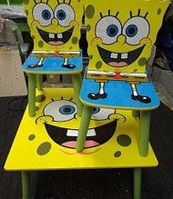 """Столик с двумя стульчиками """"Спанч Боб"""""""