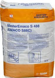 MasterEmaco S 488 - безусадочная быстротвердеющая сухая смесь тиксотропного типа, содержащая полимерную фибру,