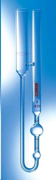 Вискозиметр BS/IP/RF U-Tube, размер 10; постоянная-100 мм2/с2, кинематическая вязкость 20000-100000 сСт, калиброванный