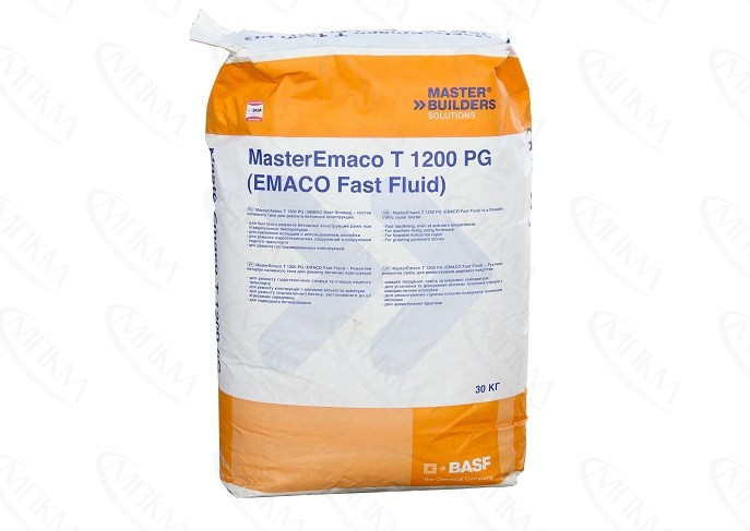 MasterEmaco T 1200  W (старое название EMACO FAST FLUID W) - готовый к применению материал в виде сухой бетонн