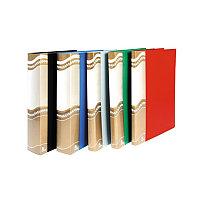 Папка  10 файлов Люкс синяя 0.55мм. А10-521