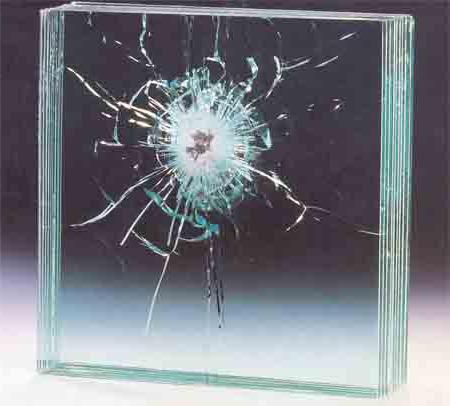 Бронированное пулестойкое стекло класса БР1
