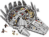 Конструктор lepin Lele 79211 - аналог лего Lego 75105 Star Wars Сокол Тысячелетия, фото 4