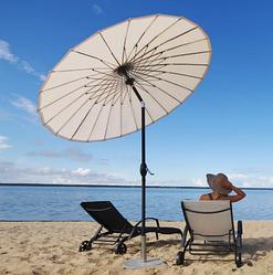 """Зонт для кафе уличный, летний, пляжный """"Шанхай"""" 2.13 м с подставкой (Бежевый)"""