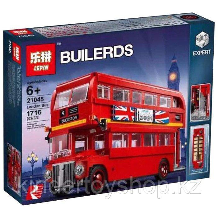 Конструктор LEPIN 21045 Лондонский автобус 1716 деталей аналог Lego 10258 CREATOR LONDON BUS