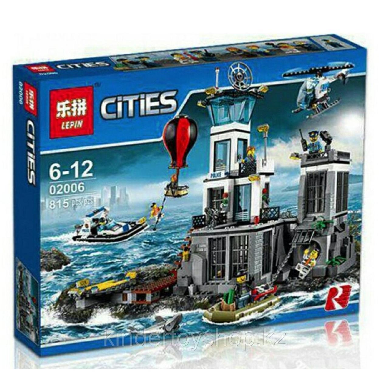 Конструктор LEPIN 02006 CITY ОСТРОВ ТЮРЬМА (аналог LEGO 60130) 815 деталей