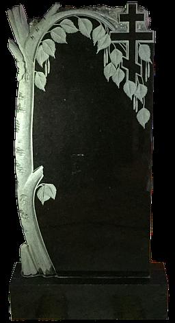 Памятник из черного гранита Береза, фото 2