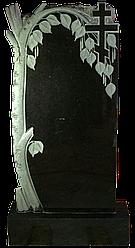 Памятник из черного гранита Береза