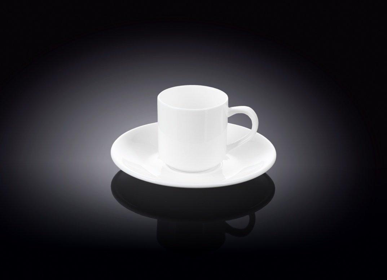 Кофейная чашка 90мл + блюдце Wilmax