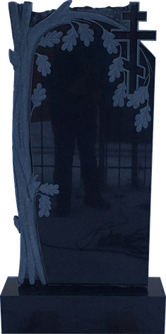 Надгробный памятник из черного гранита Дуб, фото 2