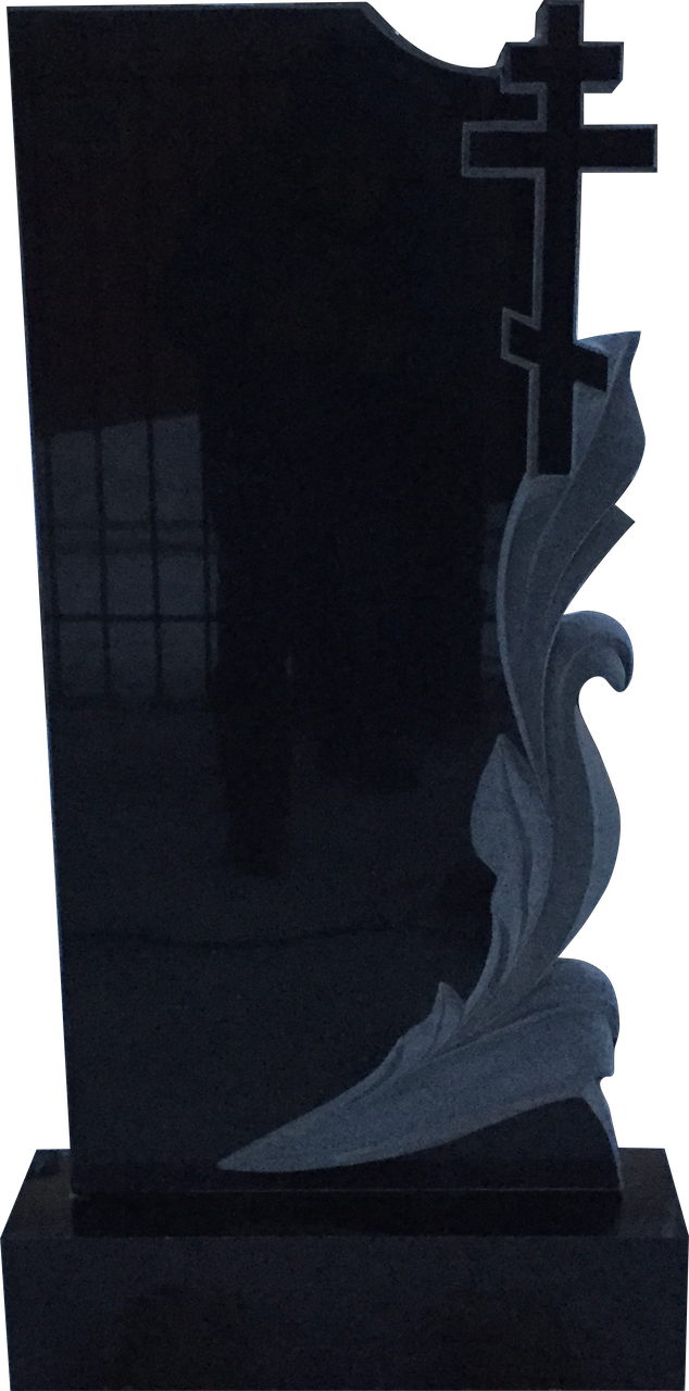 Памятник из черного гранита Лавр