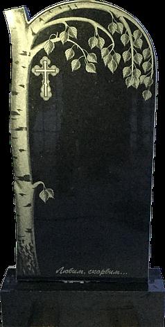 Надгробный памятник из черного гранита Береза, фото 2