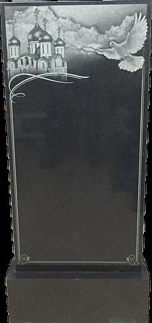 Надгробный памятник из черного гранита Голубь, фото 2