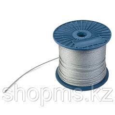 Трос стальной (DIN 3055) 4мм (1м) ПРОМ