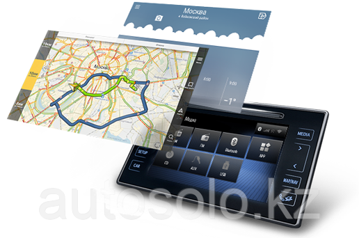 Навигационный блок на родную (штатную) магнитолу Toyota RAV4 2016+ Android 8