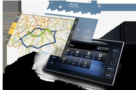 Навигационный блок на родную (штатную) магнитолу Toyota Hilux 2013-2015 Android 8