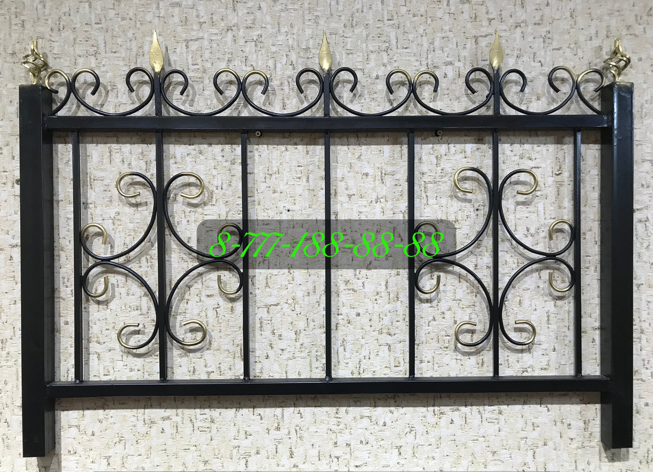Оградка сварная с пиками №11