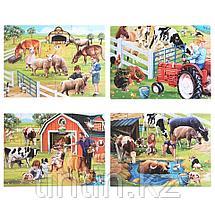 Набор из 4 двусторонних  пазлов - Ферма, 29,5 х 21,5 см, фото 2