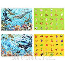 Набор из 4 двусторонних  пазлов - Морские обитатели, 29,5 х 21,5 см, фото 3