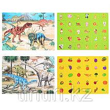 Набор из 4 двусторонних  пазлов - Динозавры, 29,5 х 21,5 см, фото 3