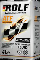 Трансмиссионная гидравлическая жидкость ROLF ATF MULTIVEHICLE 4литра