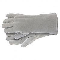 Перчатки спилковые с манжетой для садовых и строительных работ, утолщенные, размер XL, Сибртех