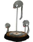 Trixie 4070 Трикси Игрушка для кошек,мыши на пружине, плюш, высота 22см, диаметр 15 см.