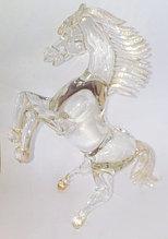 """Статуэтка """"Лошадь"""". Муранскоестекло с золотом. Ручная работа, Италия"""