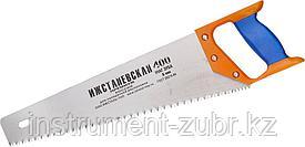 """Ножовка """"ИЖ"""" """"ПРЕМИУМ"""" по дереву с двухкомпонентной пластиковой рукояткой, шаг 5мм, 400мм"""