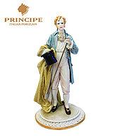 Фарфоровая статуэтка Джентльмен с тростью. Ручная работа