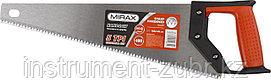 Ножовка по дереву (пила) MIRAX Universal 400 мм, 5 TPI, рез вдоль и поперек волокон