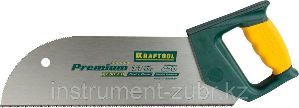 """Ножовка KRAFTOOL """"MULTI-M"""" по фанере, ламинированным материалам, пластмассе, универс зуб, 11TPI, 350мм"""