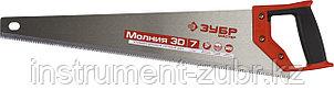 Ножовка универсальная (пила) ЗУБР МОЛНИЯ-3D 500 мм, 7TPI, 3D зуб, точный рез вдоль и поперек волокон, фото 2