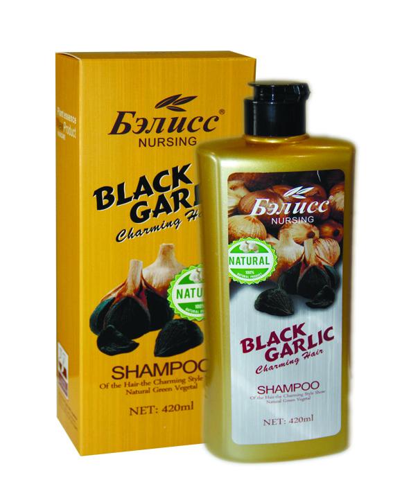 Nursing Black Capling - Шампунь с экстрактом черничного чеснока против выпадения волос 420ml.