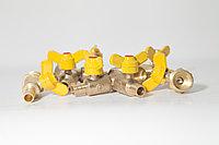 Газ кран штуцер ф15 двойной (штуцер)