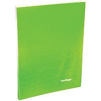 """Папка  20 файлов Berlingo """"Neon"""", 14мм, 700мкм, неоновая зеленая"""