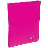"""Папка  20 файлов Berlingo """"Neon"""", 14мм, 700мкм, неоновая розовая"""