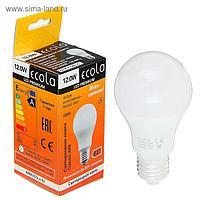 Лампа светодиодная Ecola Premium, A60, E27, 12 Вт, 4000 K, 110x60 мм, дневной белый