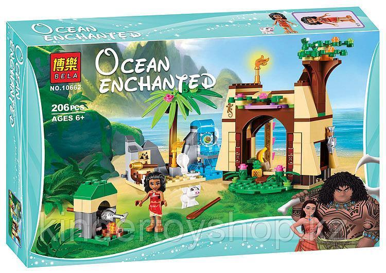 Конструктор BELA 10662 Приключения Моаны на затерянном острове, аналог Lego 41149