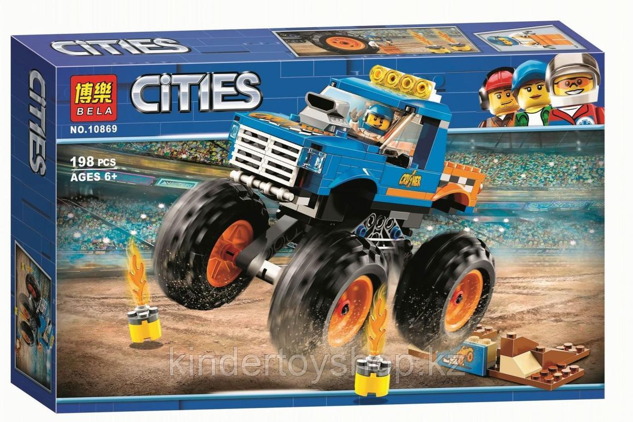 Конструктор BELA 10869 Монстр-трак аналог LEGO City (60180) 198 дет.